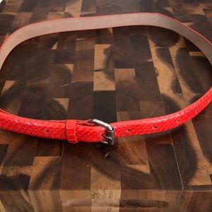 Ann Taylor Orange, Snake Skin like Belt